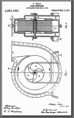 Tesla Turbine Pump Patent Drawing