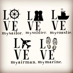 Military Decals : Love My - Air Force, Army, Coast Guard, Marines, Navy Navy Girlfriend, Military Girlfriend, Military Spouse, Navy Life, Navy Mom, Military Crafts, Marine Mom, Marine Corps, Military Tattoos