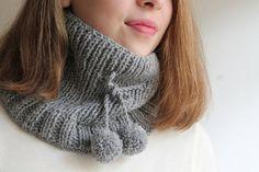 Handmade scarf  gray scarf loop scarf scarf by beyazdukkan on Etsy, $15.00