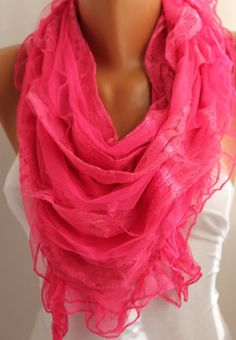 Pink scarf<3