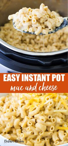 The best creamy, cheesey homemade mac and cheese! This easy Instant Pot Mac and Cheese recipe is simple to make with just a few ingredients. This pressure cooker macaroni and cheese is made with real milk and cheese and no cream. A perfect family dinner that your kids will love! Plus ideas for how to make healthy mac and cheese with whole wheat pasta, broccoli or with chicken. #instantpot #macandcheese #pressurecooker #pastarecipes