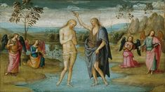 Baptism of Christ - Pietro Perugino MANY famous artists' paintings of this event Baptism Of Christ, Jesus Christ, Classic Artwork, Fine Art Prints, Canvas Prints, Art Institute Of Chicago, Classic Image, Italian Artist, Canvas Paper