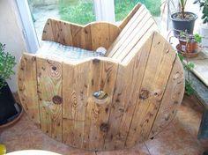 47 meilleures images du tableau touret bois | Wood spool, Recycled ...