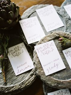 Escort Cards | The Cordelle: Nashville Tennessee
