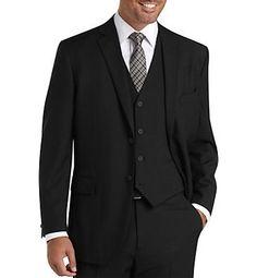 MEN'S BLACK STRIPES SLIM FIT SUIT WITH VEST: Men Suits Designer Men Wedding Suits | Suit2Suit.com
