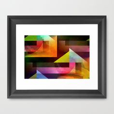Buy Multicolored abstract no. 74 Framed Art Print by Christine baessler. Worldwide shipping available at Society6.com. Just one of millions of high quality products available.