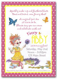 Cute for a tea party invite as well.