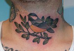 Chickadee by Kapten Hanna, via Flickr; with Grandmother's signature around it