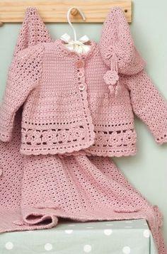 Mi.Nuestro.Mundo: Crochet Como Tejer un Abrigo para Bebé o Niña