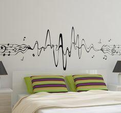 Musical Notes Decor Wall Sticker - TenStickers