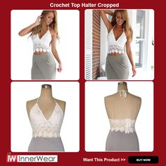 Crochet Top Halter Cropped For Women Lace Crop Top Floral Transparent Bustier Tank   >> Worldwide FREE Shipping <<  #SexyBriefs #SexyCorset #Womensunderwear #Corset #Lingerie #BuyBra #Slips #Top #Womensstore #innerwear #beautiful #girl #like #fashion #pindaily #pinlike #follow4follow #pinmood #style #like4like #beauty #tagforlikes