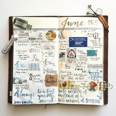 | wk of June 15-21. 2015 | #midoritravelersnotebook #MTN #travelersnotebook #planner #plannerlove #plannernerd #planneraddict #stationery #stationerylove #stationerynerd #stationeryaddict #handwriting #brushscript #stickers #washitape #stamps #postage #jenniepae