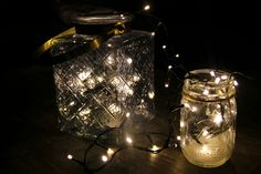 Fairy lights in a jar,