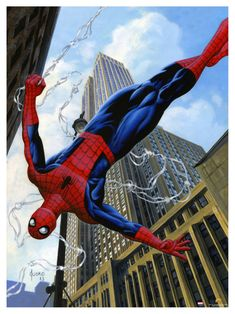 Spider-Man by Joe Jusko #JoeJusko #SpiderMan #PeterParker #Avengers #DailyBugle #Webslinger