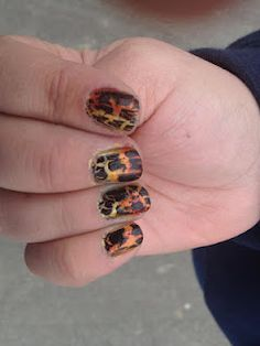 hunger games: girl on fire nails!!!