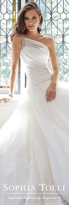 The Sophia Tolli Wedding Dress Collection - Style No. Y21440 Sissy www.sophiatolli.com #weddingdresses #weddinggowns