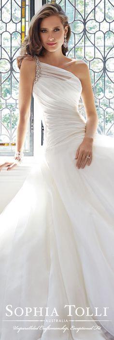 The Sophia Tolli Wedding Dress Collection - Style No. Y21440 Sissy www.sophiatolli.com #weddingdresses #weddinggowns