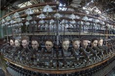 Abandoned doll factory in Spain ...now this is creepy.