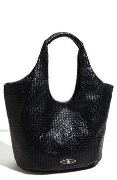 Elliott Lucca 'Millana' Woven Leather Tote. i love woven leather and roomy bags