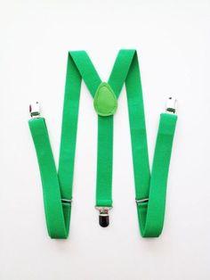 The Grunion Run : Groomsmen Shop - Green Suspenders
