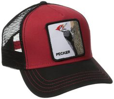 5a03b434548d Goorin Bros. Men s Animal Farm Trucker Hat Black Red Woodpecker One Size   fashion
