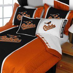 MLB Baltimore Orioles Comforter Set Baseball Bedding: Twin