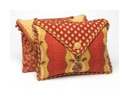 Calico Corners pillow - using variety of fabrics and trims