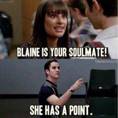 Rachel ships Klaine, as we all should :)