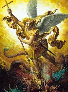 """""""São Miguel Arcanjo foi destacado no bem e a sua fé iluminou a muitos"""".  (Padre José Fortea - História do Mundo dos Anjos)"""