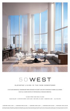 Print advertising for 50 West. DBOX 2014