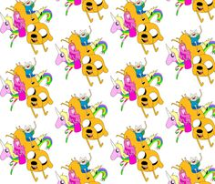 Adventure_Time fabric by interrobangart on Spoonflower - custom fabric