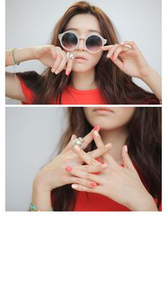 3 Concept Eyes Nail Polish in Pastel Colors. #eyecandys #cute #nails #nailpolish #love #ulzzang #parksora #3ce #korea