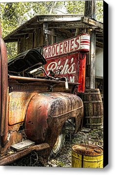 American Pickers Stretched Canvas Print / Canvas Art By Peter Chilelli