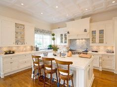 Kitchen from Camille Grammer and Kelsey Grammer's Hamptons home