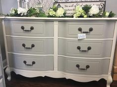 simple chalk furniture paint dresser tutorial with just a few