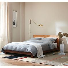 Embracing the beige interior trend with Ferm Living collection - soft beige bedroom with ochre accents King Beds, Queen Beds, Best Platform Beds, Bed Reviews, Bedroom Styles, Bedroom Ideas, Bedroom Inspo, Modern Bedroom, Modern Wall