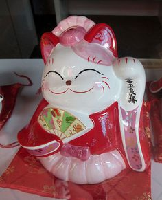 #manekineko #japanese# #cat spotted in Singapore's #ChinaTown