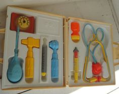 Vintage Fisher Price Medical Kit Doctor Nurse Complete