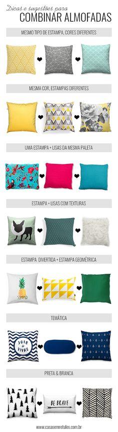 Casa Sem Rótulos, como combinar almofadas, sugestões para combinar almofadas, dicas para combinar almofadas, almofadas