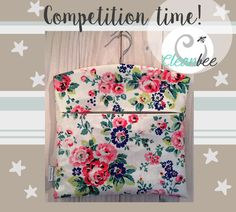 It's competition time on my Facebook page :) for a chance to win this lovely handmade peg beg using Cath Kidston fabric then enter on www.facebook.com/cleanbeewales  Good luck!! :)