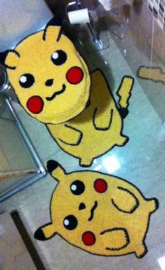 Pikachu  Jogo para banheiro com 03 peças, diversos modelos, veja mais em: www.gilmaraartes.elo7.com.br