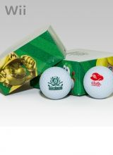 Echte golfballen met een Mario figuurtje erop. Golfen in Mario stijl!