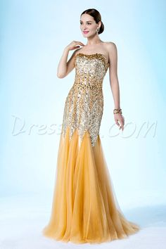 Luxurious Trumpet/Mermaid Strapless Sequins And Beading Floor Length Evening/Prom Dress 10771115 - Evening Dresses 2014 - Dresswe.Com #Dresswe pretty evening dress #Dresswe fashion evening dress  #Dresswe cute dress