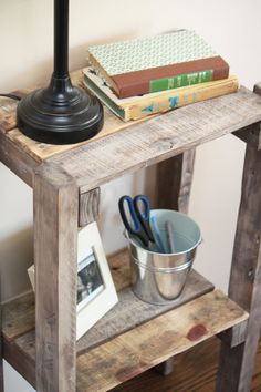 Reclaimed Pallet Accent Table