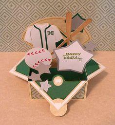 SVG Cuts : Father's Day Box Card - Baseball Card