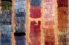 Colour palette of dyed silks of Fortuny dresses