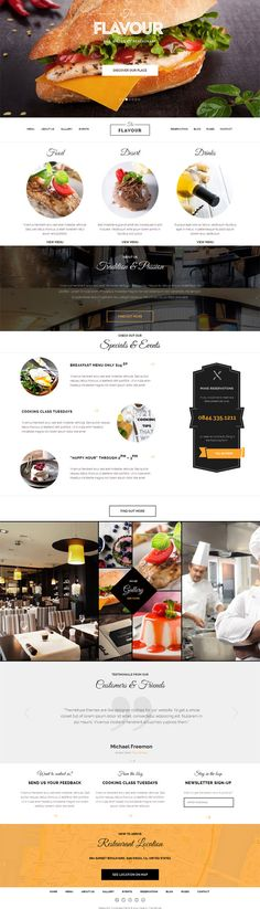 The Flavour WordPress Theme @ThemeFuse for restaurant, bar and bistro websites