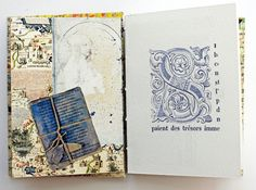 Artist book Coptic stitch book Handmade book by modestly on Etsy
