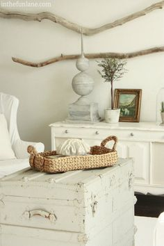 in the Fun Lane - painted white furniture