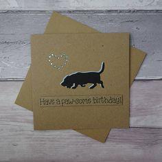 Bassett Hound birthday card or Bloodhound Card Hound dog